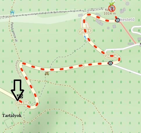 Kékestető-Parádfürdő kerékpáros túra, térkép.